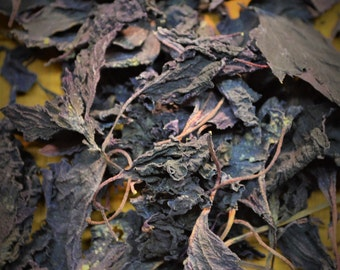 Dried Purple Basil - Certified Organic, Purple Basil, Opal Basil, Dried Herbs, Culinary, Colorful, Flavorful, Gourmet, Specialty, Cooking