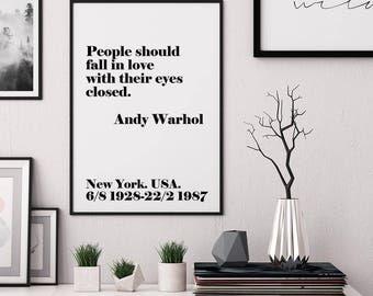 Andy Warhol poster, Andy Warhol Wall Art, Printable Wall Art, Scandinavian Wall Art, Inspirational Poster, Love Print, Love. Digital Print