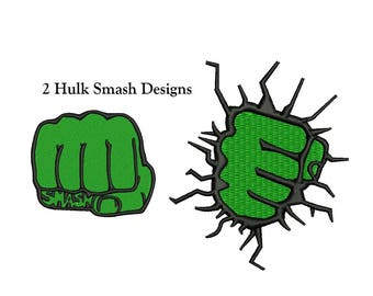 Hulk Embroidery Design - 2 designs - The Green Hulk Embroidery Design SuperHero