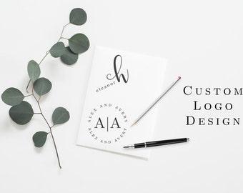 Custom Logo Design Business Photography Logo Premade Gold Watercolor Newborn Small Business Bakery Cakes Branding Marketing