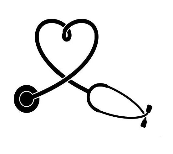 stethoscope svg heart shape outline laptop cup decal svg Free Software for Cricut Machine Free SVG Files for Vinyl