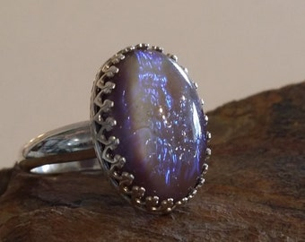Sterling Silver Ring with Dragons Breath