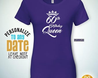 60th birthday Queen, 60th birthday gifts for women, 60th birthday gift, 60th birthday tshirt, gift for 60th Birthday Party