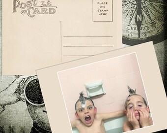 Vintage Postcards! 25 cards-Per Pack! Personlize Your Vintage Postcard With Your Favotite Picture. Envelopes Included!