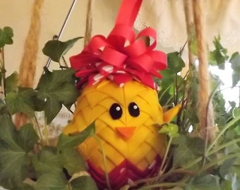 Easter Chick Quilted Ornament Instructions