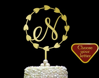 letter n cake topper wedding cake topper monogram cake topper letter wedding cake topper initial cake toppers single letters ct059