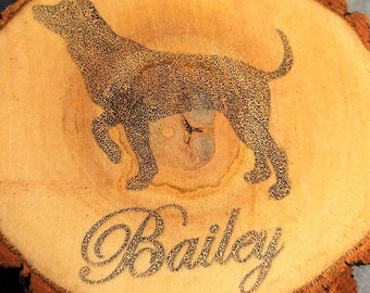 Ten Customized Wood Slices (Christmas Ornament, Home Decor)
