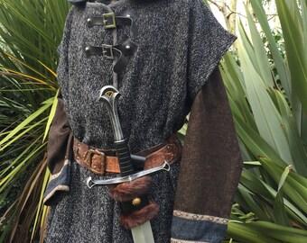 Sleeveless Woollen Jacket for Larp Cosplay SCA Costume