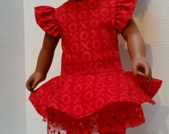 2-Piece Set Doll Dress - For 18 inch Doll  (A-2) Fits American Girl size dolls