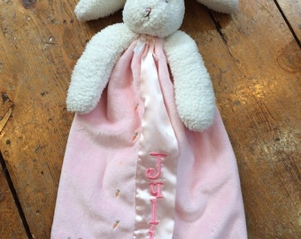 Bunny Lovie with Name / Personalized Lovie Blanket / Personalized Security Blanket / Personalized Bunny Lovie / Monogrammed Bunny Blanket