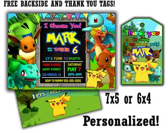 Pokemon Party Invitations for luxury invitations example