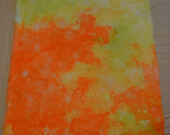 32 ct. Linen Hand Dyed Cross Stitch Fabric - Melted Ice Pops