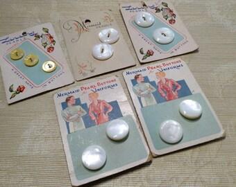 Mermaid Peral Buttons | Lansing Pearls | Mermaid Pearls | vintage Buttons