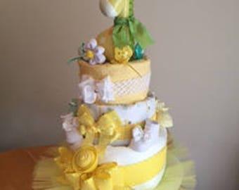 Yellow Giraffe Diaper Cake