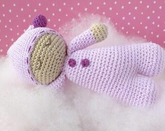 Mini Dozer crochet snowman / Crochet doll