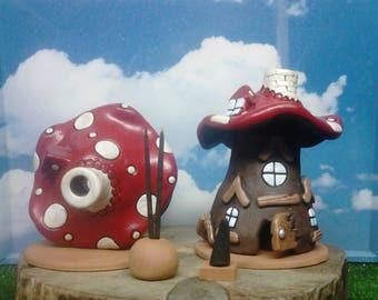 In ceramic cones and sticks incense burners