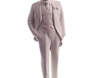 Soviet Russian USSR Leader Vladimir Lenin Marble Bust / Statue 17cm (6.7'') white