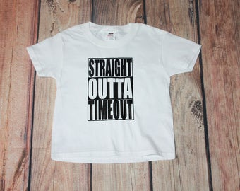Toddler Straight Outta Timeout Shirt Time Out Tshirt Straight Outta Shirt Toddler Youth Time Out Shirt Straight Outta Shirt Time Out Shirt