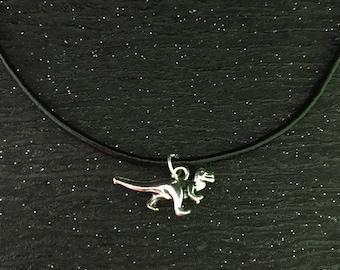 Dinosaur choker, dinosaur necklace, dinosaur jewellery, dinosaur gifts, gifts for teens, gifts for him, birthday gifts