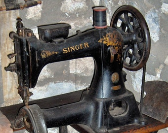 Italy Singer Sewing Machines  ~ Poster Print