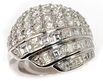 Ball ring white gold 18K with diamonds