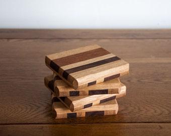 Set of 4 Chunky Wood Coasters