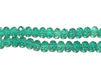 Glass Beads, Rondelle Beads, Faceted Glass Beads, Beading Supplies, Crystal Beads, DIY Jewelry, Jewelry Supplies, Jewelry Making, 8X6mm
