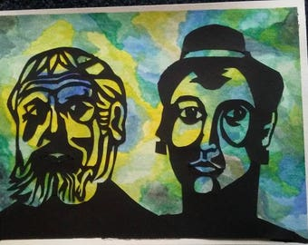 Herod and Herodias & Priam and Hecuba - a Retired Shadow Puppet Piece