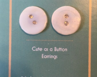 Amsterglam Cute as a Button Pearl Button Earrings