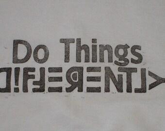 Block printed T-shirt