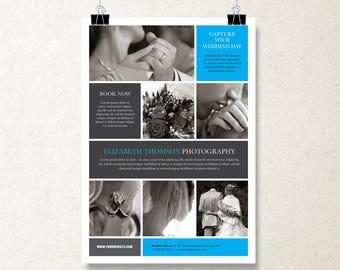 Printable Brochure Design, Flyer brochure, Brochure Design, Photographer Marketing Kit, brochure template, 1 Page Brochure, Wedding Brochure