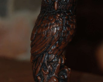 Cast-Mock Bronze Owl Statue