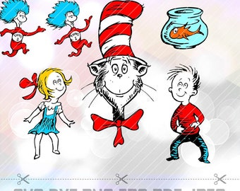 Cat in the hat svg | Etsy