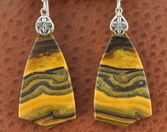 Tiger Iron .925 dangle Earrings