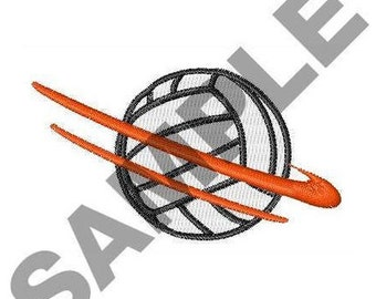 Volleyball Motion - Machine Embroidery Design
