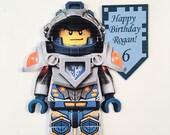 Large Lego Nexo Knight cake topper