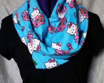 Blue Hello Kitty Infinity Scarf