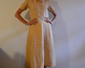 Vintage Summer Peach Dress