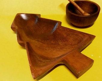 Tree-Shaped Wooden Dish