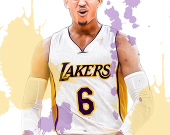 "Jordan Clarkson Los Angeles Lakers 13"" W x 19"" H Poster"