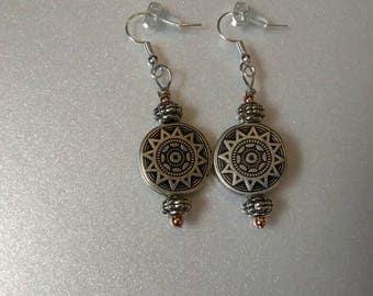 Silver Sundial earrings