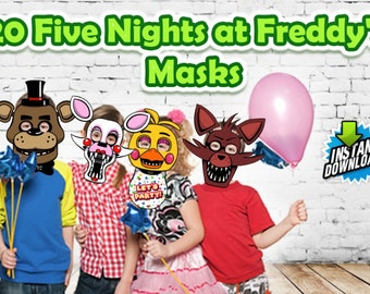 Five Nights at Freddy's Masks for Birthday's or any Party!