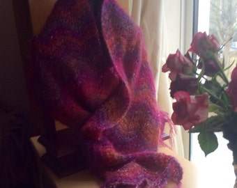 Chameleon Lace mohair shawl