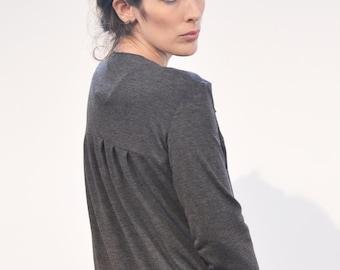 SALE Jersey jacket 'praise' grey Cardigan