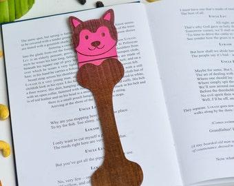 Custom Dog Art Animal Bookmark dog bookmark dog lover bookmark puppy bookmark wood animal cutouts wooden dog animal custom book thief