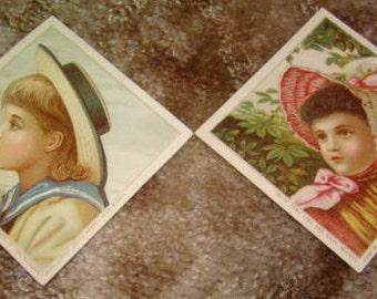 2 Pieces of Victorian Scrap (Children)