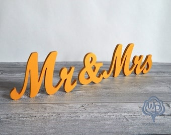 Mr and Mrs Sign Wedding Table Decoration Mr and Mrs Set Letter Sign MR & MRS Wood Letters Wedding Mr And Mrs Wooden Sign Wedding Signs
