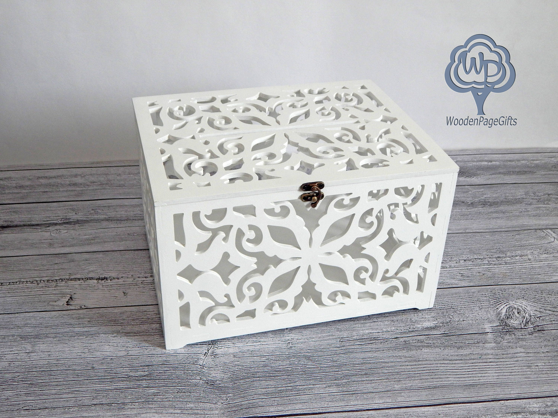 Wedding Gift Card Box Holder: Wooden Wedding Card Box Wedding Card Holder Wedding Gift Card