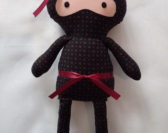 Black Ninja Rag Dolls