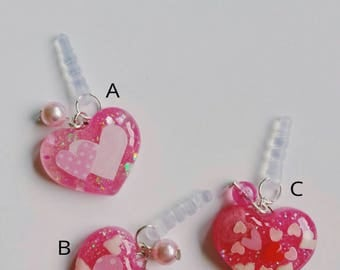 Adorable heart dust plugs